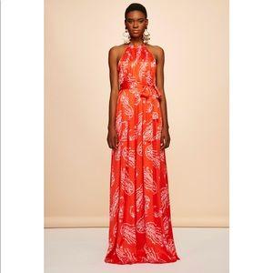 Beautiful gown/maxi dress in red silk